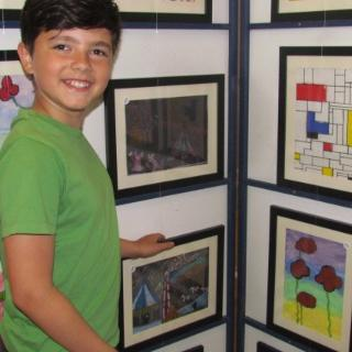 South Grove Primary's First Art Exhibition