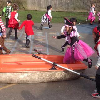 Reception - Spring Term - Pirate Day in RR